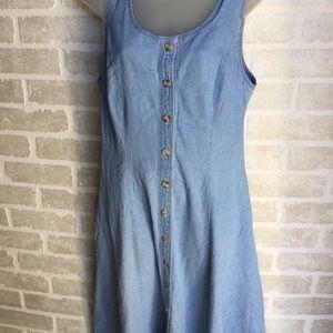 Vintage stone wash denim dress size 11/12 women's